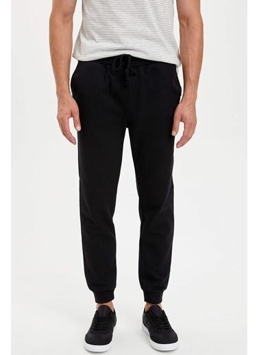DeFacto Desenli Slim Fit Jogger Pantolon Siyah